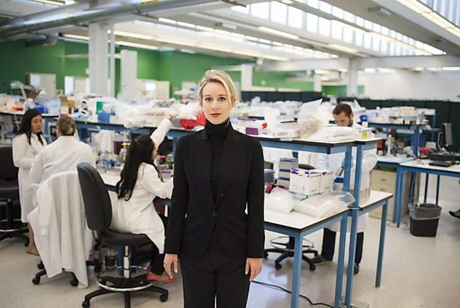 Elizabeth Holmes, founder of Theranos: Does 'The Inventor' portray computer simulation as real? Photo: HBO