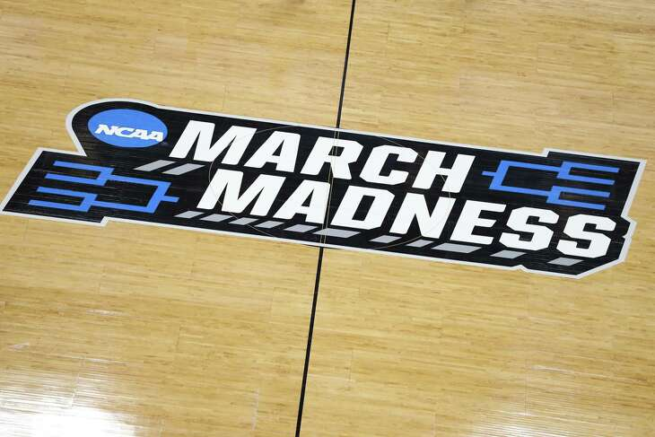 SALT LAKE CITY, UTAH - MARCH 20:  A general view of a 'March Madness' logo is seen during practice before the First Round of the NCAA Basketball Tournament at Vivint Smart Home Arena on March 20, 2019 in Salt Lake City, Utah.