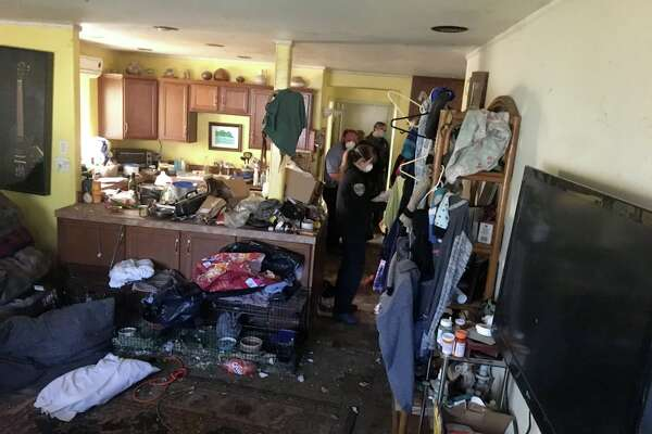 Photos released by the Ventura County Sheriff's Office show the slovenly interior of a rat-infested home in Ojai, Calif., on March 14, 2019. The home is the subject of an elder and animal abuse investigation.