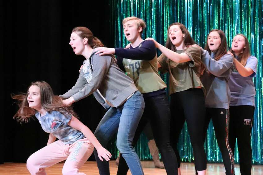 Rehearsals for the Northville Central School production of