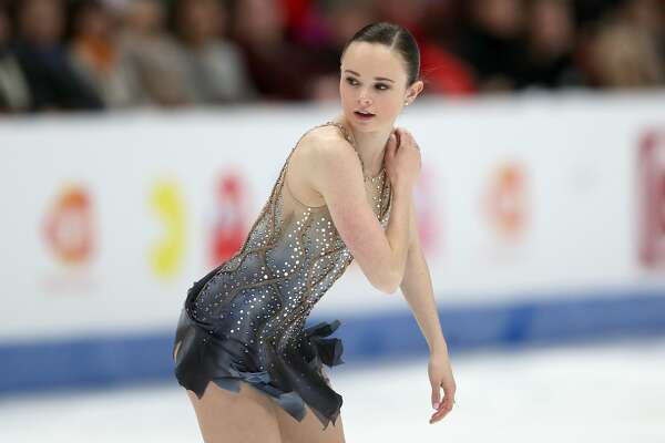 Mariah Bell of the United States skates in the Ladies Free Skate during the ISU Four Continents Figure Skating Championships on February 08, 2019 at the Honda Center in Anaheim.