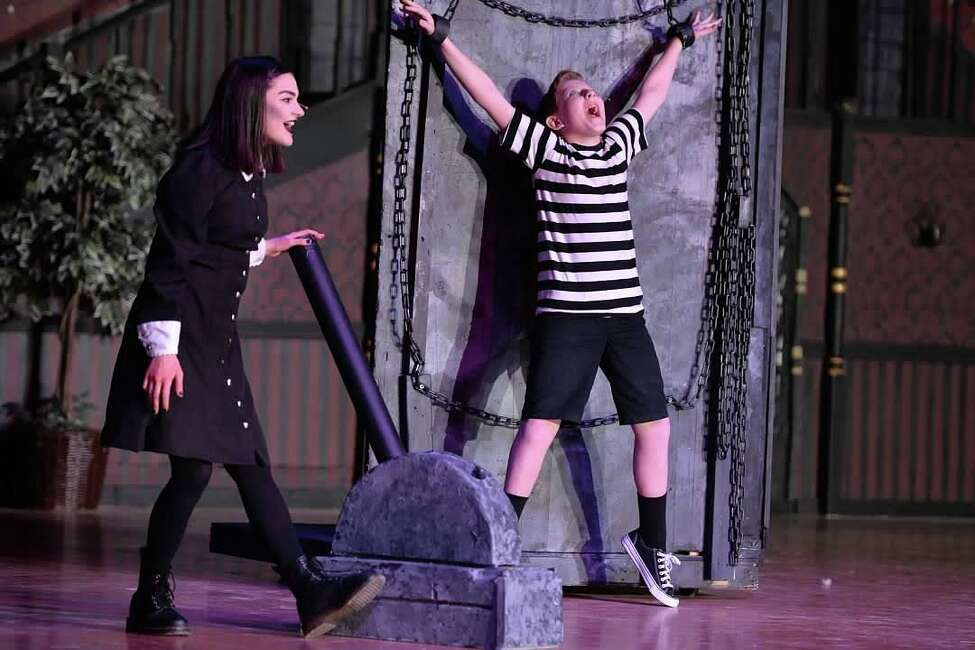 Rehearsals for the Mohonasen High School production of 'The Addams Family.'