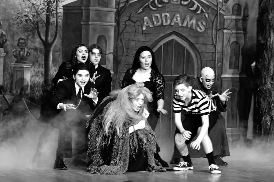 Rehearsals for the Mohonasen High School production of 'The Addams Family.' Photo: Mohonasen High School