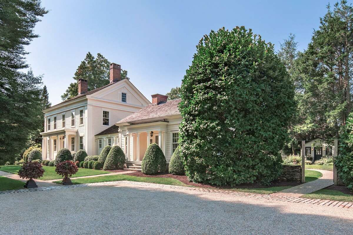 The 4,698-square-foot Greek Revival at 1555 Burr St. in Fairfield - which town records say was built in 1819 - had fallen into disrepair when it was purchased by its current owners. They vastly renovated not just the house, but the gardens and other landscaping. Today, the home, with links to the historic Burr family, is a breathtaking mix of classic architectural details and modern style.