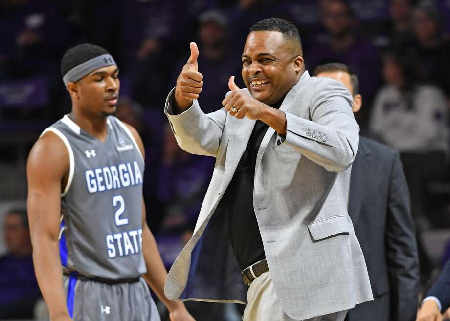 PHOTOS: Cougars head to NCAA Tournament  MANHATTAN, KS - DECEMBER 15:  Head coach Ron Hunter of the Georgia State Panthers reacts after a play against the Kansas State Wildcats during the first half on December 15, 2018 at Bramlage Coliseum in Manhattan, Kansas.  (Photo by Peter G. Aiken/Getty Images) >>>See photos of the Houston Cougars before they depart for the NCAA Tournament in Tulsa, Okla. ...  Photo: Peter G. Aiken/Getty Images