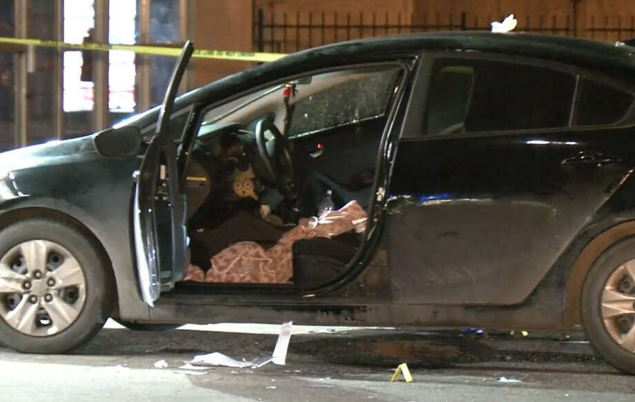 Police are searching for a gunman who shot two people at a convenience store in east Houston Thursday morning. >>Images from the crime scene Photo: Metro Video