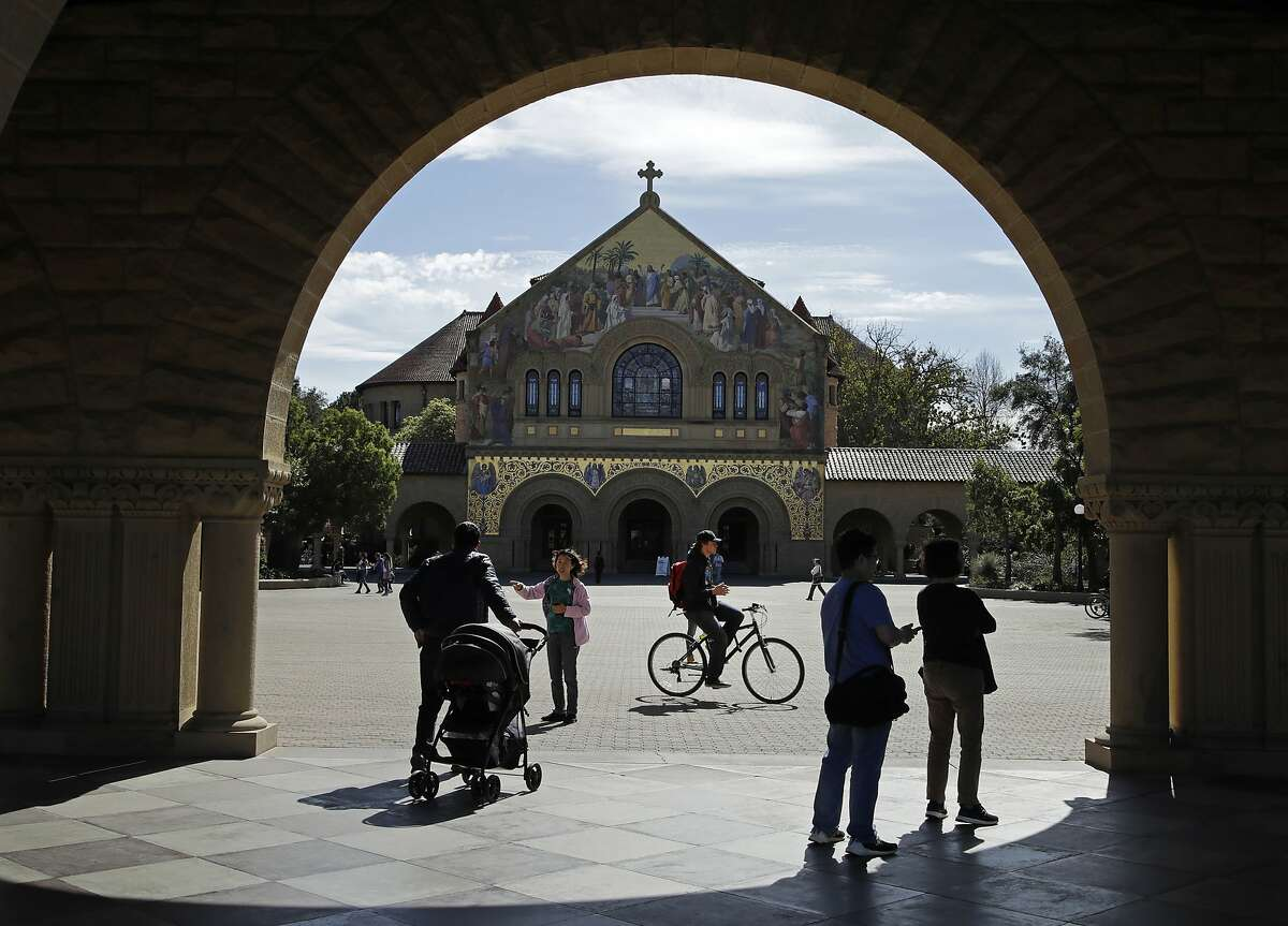 Memorial Church on the Stanford University campus - an anti-racism group never discussed swastikas that were found in the church last July, a state and federal complaint alleges.
