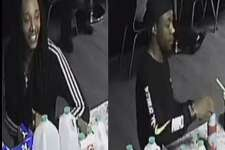Four persons of interest in a multiple shooting in Spring are seen in these surveillance photos.