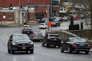 Traffic passes along Glenville Road near Riversville Road in Glenville on Thursday.