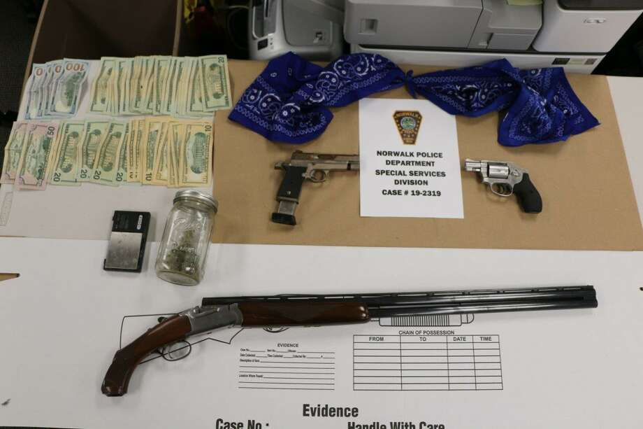Items allegedly seized in connection with the arrest of Tyler Singewald. Photo: Norwalk Police Department /