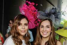 EMBARGOED FOR SOCIETY REPORTER UNTIL MARCH 22 Daniella Hernandez, left, and Julie Chen at the Hermann Park Conservancy's annual Hats in the Park luncheon at Cherie Flores Garden Pavilion at McGovern Centennial Garden.