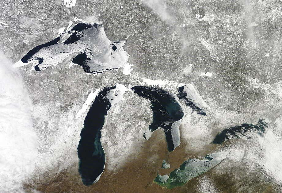 A satellite photo shows the Great Lakes, a region that is warming faster than the rest of the U.S. Photo: Associated Press