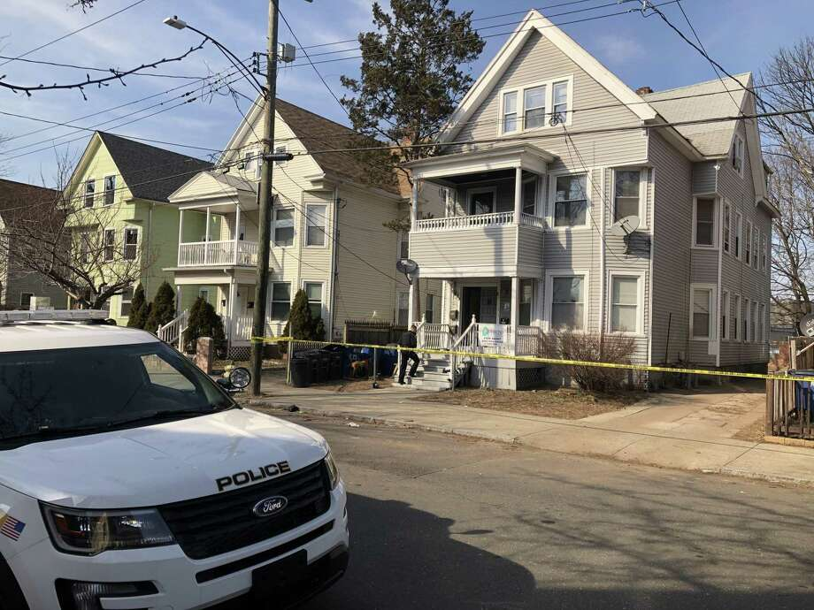 A home on Dickerman Street in New Haven was blocked off while police investigated on Wednesday afternoon, March 20, 2019. Photo: Ben Lambert / Hearst Connecticut Media