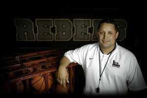 Lee's Alfred Acosta is the Midland Reporter-Telegram girls basketball head coach of the year. Photographed March 21, 2019, at Lee High School.  James Durbin / Reporter-Telegram