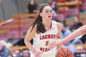 Sacred Heart guard Erin Storck is averaging 10.6 points for the Pioneers. 2018 2019