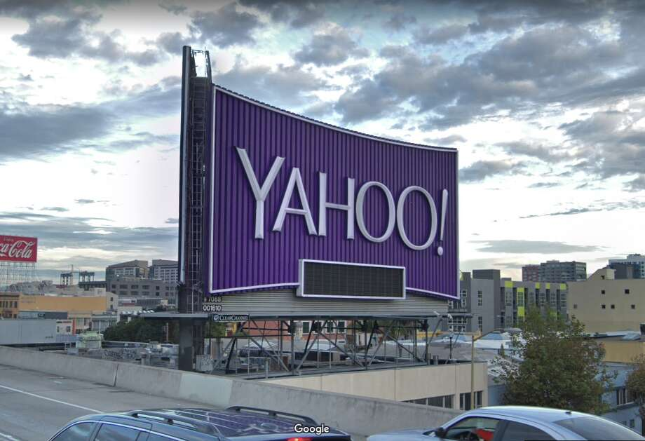 The Yahoo billboard on I-80 in San Francisco. Photo: Google Maps
