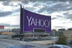 The Yahoo billboard on I-80 in San Francisco.