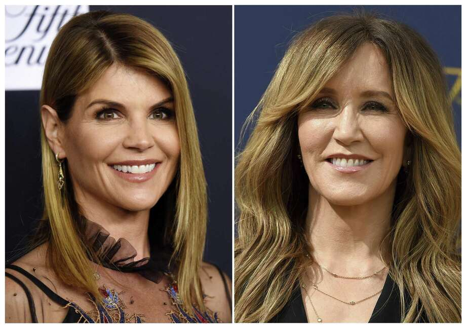 Lori Loughlin, left, and Felicity Huffman, are among at least 40 people indicted in a sweeping college admissions bribery scandal. Both were charged with conspiracy to commit mail fraud and wire fraud. Photo: /Associated Press / AP