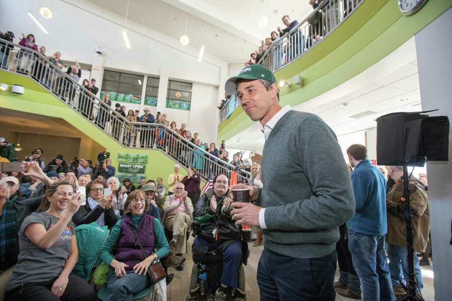 Democratic presidential candidate Beto O'Rourke arrives at a meet and greet at Plymouth State College on Wednesday in Plymouth, New Hampshire. After losing a long-shot race for U.S. Senate to Ted Cruz (R-TX), the 46-year-old O'Rourke is making his first campaign swing through New Hampshire after jumping into a crowded Democratic field. Photo: Scott Eisen /Getty Images / 2019 Getty Images
