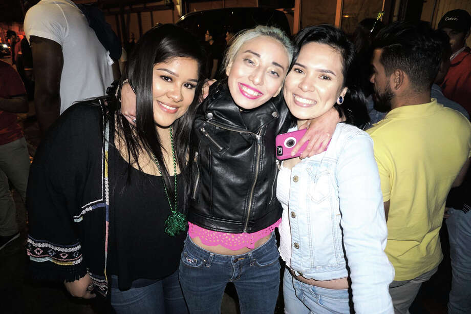 Rosa Vela, Dayana Escobar and Rebecca Segura at The Happy Hour Downtown Bar Photo: Laredo Morning Times