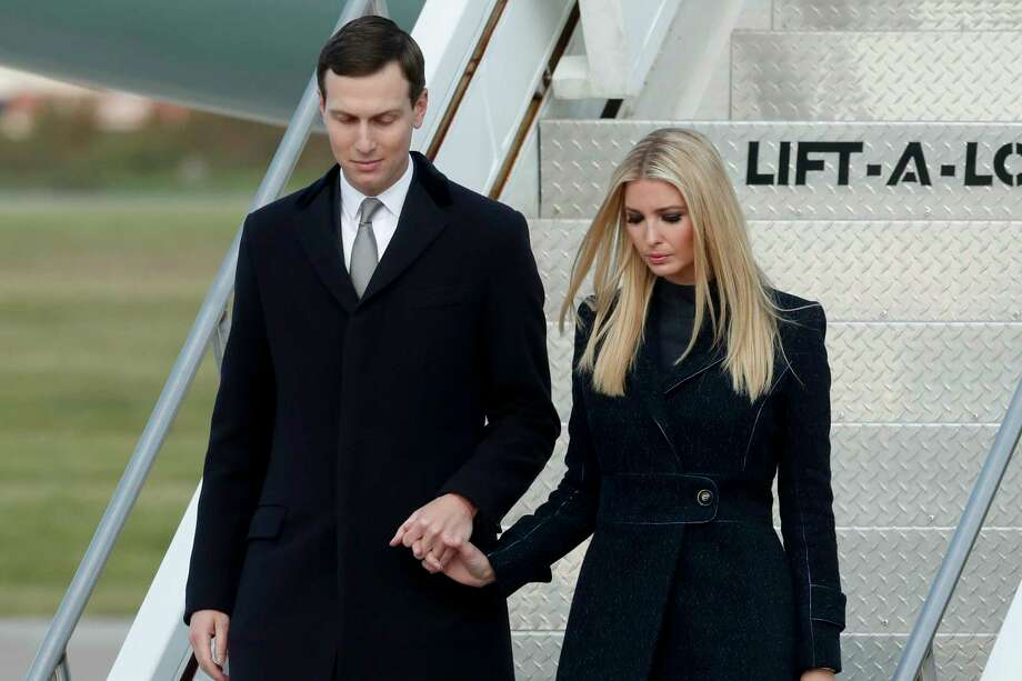 FILE - In this Oct. 30, 2018, file photo, Ivanka Trump, right, departs Air Force One with Jared Kushner in Coraopolis, Pa. An Associated Press investigation found President Donald Trump?s daughter and son-in law stand to benefit from a program they pushed that offers massive tax breaks to developers who invest in downtrodden American areas.(AP Photo/Keith Srakocic, File) Photo: Keith Srakocic / Copyright 2018 The Associated Press. All rights reserved