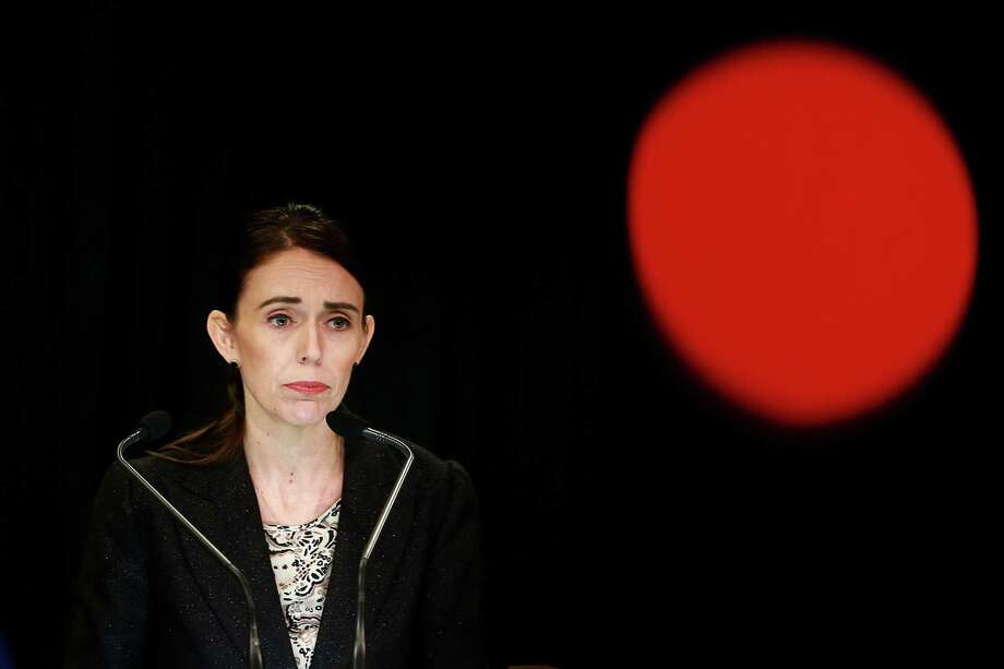 Prime Minister Jacinda Ardern speaks to media during a press conference at Parliament Thursday in Wellington, New Zealand. Photo: Hagen Hopkins / Getty Images / 2019 Getty Images