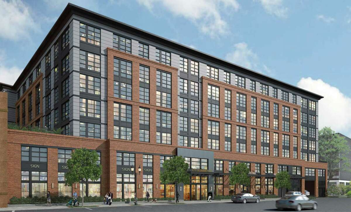 """777 SUMMER ST.: With a booming demand for housing in the city met by a glut of vacant office space, the owners of this large office building and next door 733 Summer St. garnered approvals this week that make way for housing on a combined 2.5-acre lot after demolition of these two buildings. The plans are for a nearly 400-unit residential building on the site. The board unanimously approved special exceptions the developer said were needed to realize the redevelopment along with proposed site plans that call for a seven-story new building. The building, with brick with granite accents, will replace the two offices, built in 1966 and 1968, with a """"nice looking building,"""" said zoning Chair David Stein. Plans also call for street-level retail and a parking garage shielded from street view by the building. Have a question about a building, property or project? Email Barry Lytton with """"Point of Interest"""" in the subject line at barry.lytton@stamfordadvocate.com."""