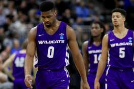 JACKSONVILLE, FLORIDA - MARCH 21: Jaylen Franklin #0 of the Abilene Christian Wildcats walks across the court in the second half against the Kentucky Wildcats during the first round of the 2019 NCAA Men's Basketball Tournament at Jacksonville Veterans Memorial Arena on March 21, 2019 in Jacksonville, Florida. (Photo by Mike Ehrmann/Getty Images)