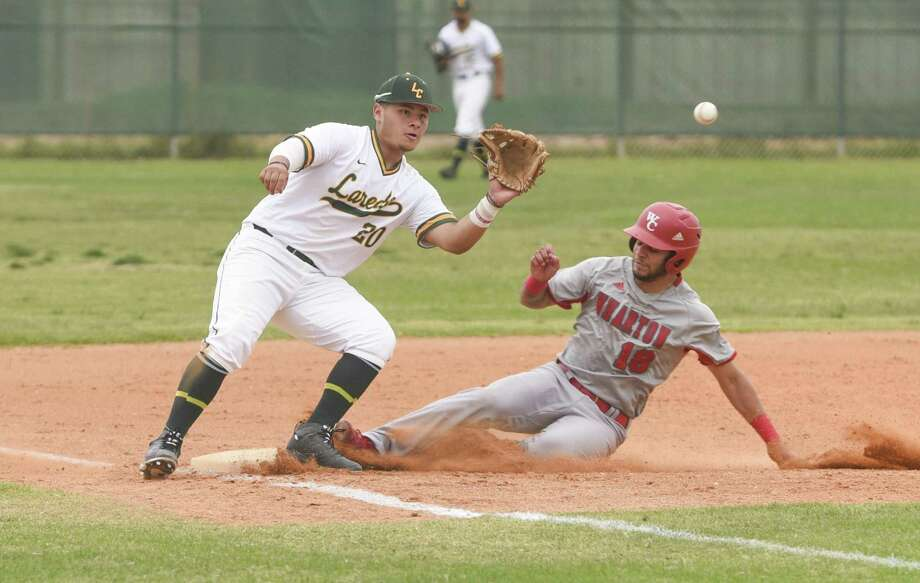 Jesus Rodriguez and the Laredo College baseball team are now 3-14 in Region XIV play after splitting their four-games series with Galveston College this past week. Photo: Danny Zaragoza /Laredo Morning Times File