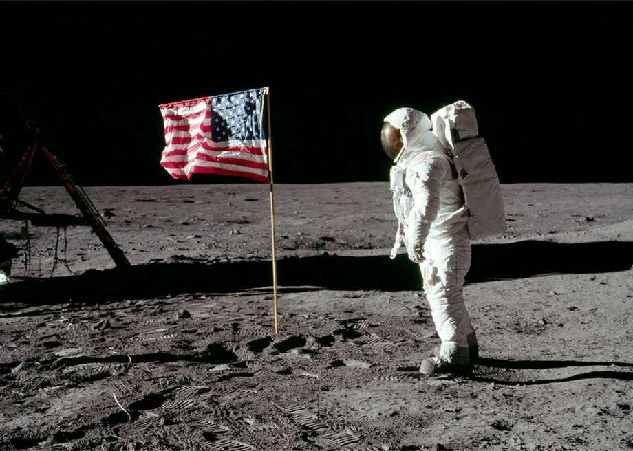 Famous images show Neil Armstrong and Buzz Aldrin standing next to the American flag, the first flag planted on the moon. However, the flag is no longer standing proudly.