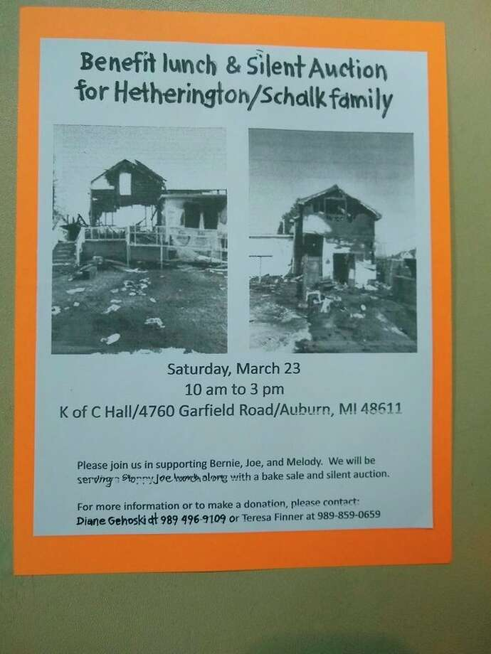 A flier promoting the fundraiser benefitting the 'Hetherington/Schalk' family, of Auburn, who lost their home to a fire in earlier 2019, on March 23, 2019.