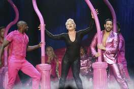 "Pink opens her concert Thursday at the AT&T Center with ""Get the Party Started."""