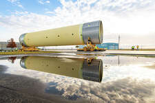 Technicians at NASA's Michoud Assembly Facility in New Orleans moved the largest piece of structural test hardware for the Space Launch System in December.