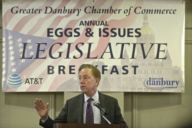 Governor Ned Lamont speaks at the Greater Danbury Chamber of Commerce breakfast on Friday morning. March 22, 2019, at Ethan Allen Hotel, Danbury, Conn.
