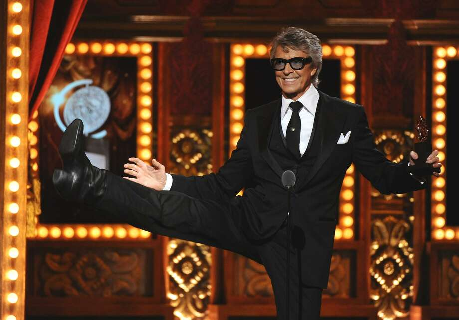 Tommy Tune accepts the Tony for lifetime achievement award at the 69th annual Tony Awards at Radio City Music Hall in 2015. This year's Tommy Tune Awards celebration begins at 7:30 p.m. Tuesday, April 30, in Houston's Hobby Center, and is open to the public. Photo: Charles Sykes, INVL / Charles Sykes/Invision/AP / Invision