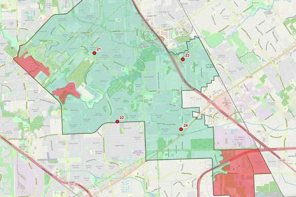 This map shows the coverage of Harris County Emergency Services District No. 13 currently, with the southern portion of the district lacking coverage.