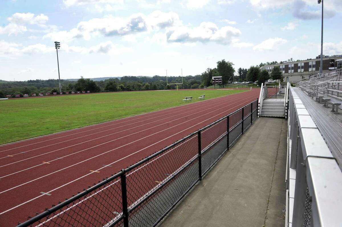 The Board of Finance unanimously approved $135,000 to be used from the capital non-recurring account to resurface the track at Bethel High School. Photo Wednesday, Sept. 19, 2018.