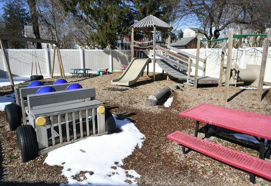 A playground funded with state money at Honey Bear Learning Center in Stratford, Conn. on Wednesday, March 13, 2019. Photo: Brian A. Pounds / Hearst Connecticut Media / Connecticut Post