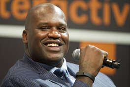 Shaquille O'Neal at the South By Southwest (SXSW) Interactive Festival in Austin, Texas, on March 9, 2014.
