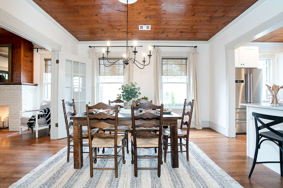 The Cordray's recently renovated and designed this home in Galveston which is set to hit the market soon. The couple has a soft spot for dark wood furniture and said they like to mix antique pieces with pops of color such as with white sofas.
