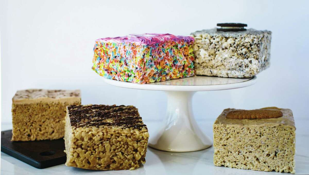 A selection of the rice crispy treats available at Cereal Killer Sweets, a new shop located on Huebner Road inside the former Pink's Popcorn space
