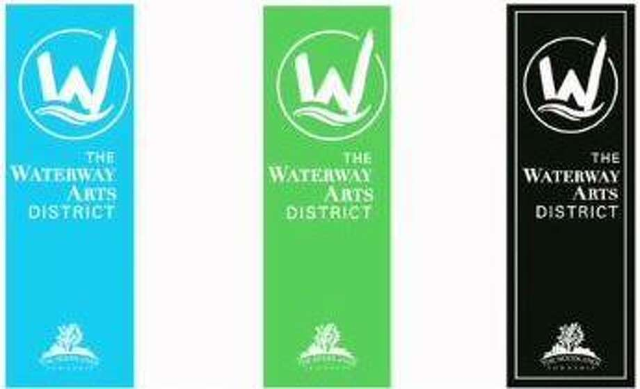 Both the Development Standards Committee and The Woodlands Township Board of Directors recommended a set of three similarly designed banners in different colors for The Waterway Arts District. Photo: The Woodlands Township