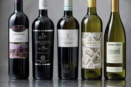 From left: Coppo L'Avvocata Barbera d'Asti 2017, Three Rivers Winery River's Red Wine 2015, David Reynaud Syrah Les Monestiers 2017, Les Vignerons de Tavel Acantalys Cotes du Rhone 2016, Domaine Le Pigeonnier Montlouis sur Loire Sec 2017.