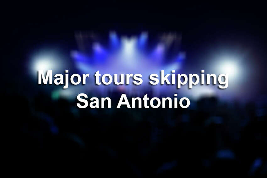 Click ahead to view 2019 tours skipping San Antonio.