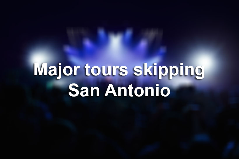 Singers, bands skipping San Antonio on their tours this year