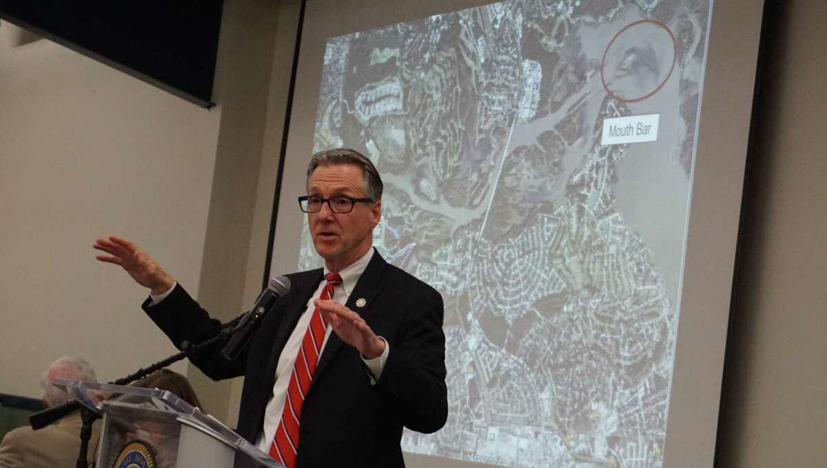 Chief Recovery Officer Stephen Costello at the Capital Improvement Project town hall March 21, 2019 in Kingwood, TX.