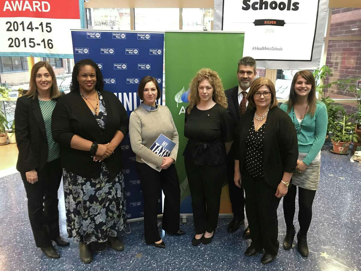 United Way and Avangrid at the Columbus Academy free tax prep site in Fair Haven.