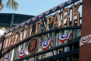 The new Oracle Park sign is installed above the Willie Mays Gate at the Giants' ballpark in San Francisco, Calif. on Thursday, March 21, 2019.