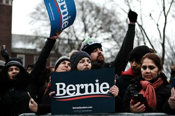 NEW YORK, NEW YORK - MARCH 02: People wait to hear U.S. Sen. Bernie Sanders (I-VT) at a rally at Brooklyn College on March 02, 2019 in the Brooklyn borough of New York City. Sanders, a staunch liberal and critic of President Donald Trump, is holding his first campaign rally of the 2020 campaign for the Democratic Party's presidential nomination in his home town of Brooklyn, New York. (Photo by Spencer Platt/Getty Images)