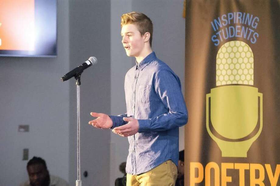 Student Evan Reynolds of Lewis S. Mills High School recently won Connecticut's Poetry Out Loud State Finals. Reynolds will represent Connecticut at the 2019 National Poetry Out Loud Finals, to be held April 30 - May 1 at George Washington University in Washington D.C. Photo: Contributed Photo